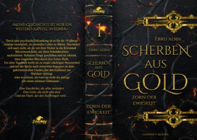 Buchcover Scherben aus Gold